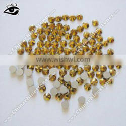 Non hotfix DMC rhinestone flat back crystals ss16 Gold hematite for clothing