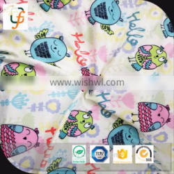 cheap printed brushed polyester fabric for children