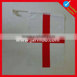 white red printed fabric car flag