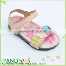 China factory soft sole beautiful PU sandals for kid