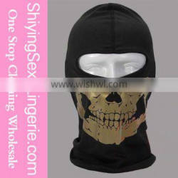 High Quality Wholesale Gold Skull Face Cycling Halloween Scary Clown Masks