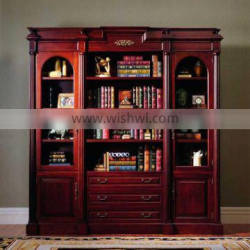 Antique Solid Wood Bookcase With Chest