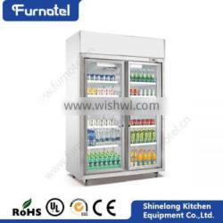 CE Heavy Duty Industrial Refrigeration Vertical Refrigerated Showcase Quality Choice
