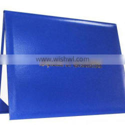 Hot New High Quality leather diploma cover with gold foil stamp