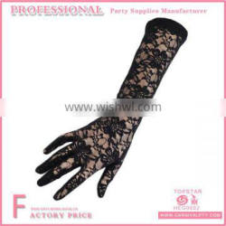 Embroidered Long Lace Wedding Gloves