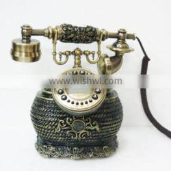 fancy corded antique wooden telephone table