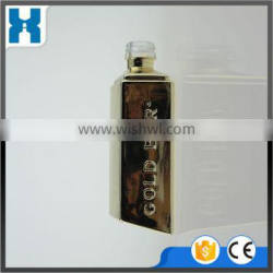 50ML GOLD PAINTED COLORED GLASS LIQUOR BOTTLE FOR SALE