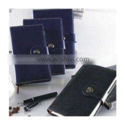 Business PU Pull-up Soft Leather Cover Notebook