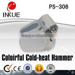 Best price portable skin cooling skin calm blue light cold hammer for home use