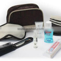Deluxe flight comfort set/flight toiletries set/flight cosmetics set with nylon bag for the business class