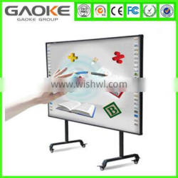 """96"""" watch board dual touch anti-jamming infrared interactive whiteboard for classroom,intelligent board"""