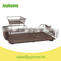 color coating brown dish drying rack with PP tray