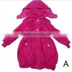 Girl Jacket 100%Polyester with Hood Apparel Stock
