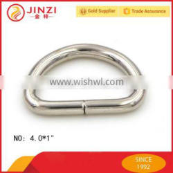 Jinzi metal cheap 32mm wide nickel iron bag D ring