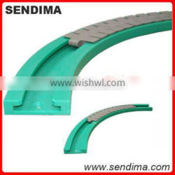 low friction tough uhmwpe plastic chain guide/conveyer chain suited for industrial application