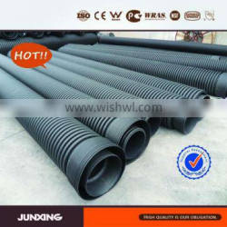 JunXing advantage product 600mm sn8 hdpe culvert pipe for sewer and drainage project