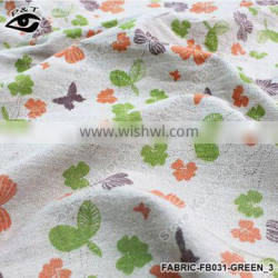 150CM width Canvas Fabric Flower butterfly Pattern Linen Fabric for cushion, bolster, tablecloth, bags, decorative