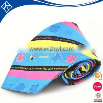 2016 wholesale fashion Stylish digital print silk neat tie supplier