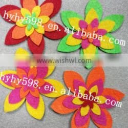 factory directly popular selling eco-friendly felt flower stickers, felt sticker craft