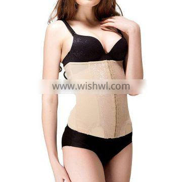 Women's Elastic Lace Embroidery waist cincher Postpartum Slim Invisible Waist Trainer with Paypal Terms