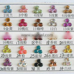 High quality flat back acrylic rhinestone all colors for dress apparel shoes bags