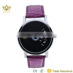 Japan movement quartz analog display leather watch strap mechanical watch made in china watches men