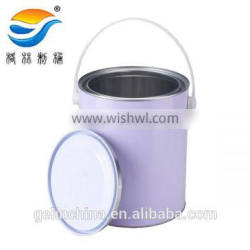 4L big mouth round tinplate paint pail,panit bucket with handle