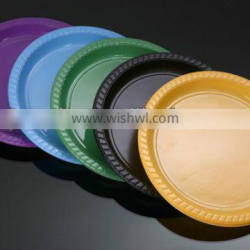 10inch colorful plastic disposable plates PS