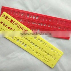 Factory Plastic Letter Stencil Ruler OEM and ODM office stationery for school patchwork ruler