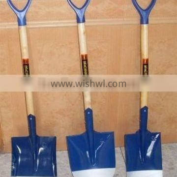 shovel with wooden handle,hot sale in Ghana