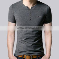 2016 Best-Selling 100% Cotton Material Basic Plain Round Neck Mens Clothing Tshirt