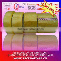 Clear tape with transparent BOPP film and yellowish water based glue for box sealing PT-48