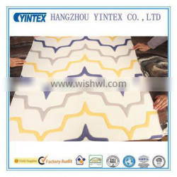 Geometric Figure Wave Mattress Fabric Polyesyer Knitted Fabric