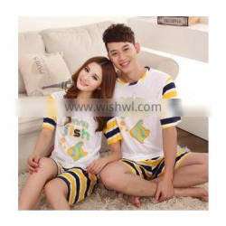 F70030S Lovers pajamas suit funny face of pure cotton short sleeve leisurewear suit