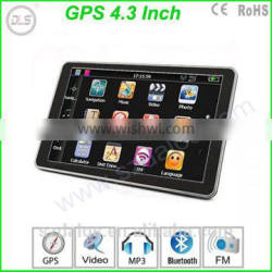 Smart 4.3 inch NAV receiver car gps multimedia navigator universal 3d car gps navigation