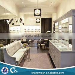 wooden sunglass display glass cabinets