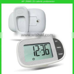 Xmas best gift pedometer with belt clip and time function