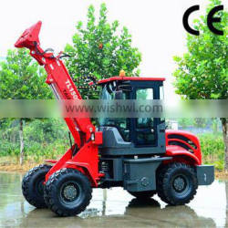 chinese small farm loader weidemann loader TL1500 telescopic wheel loader with 4.2M lifting height