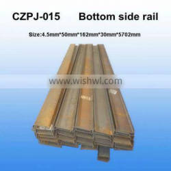 ISO standard shipping container bottom side rail