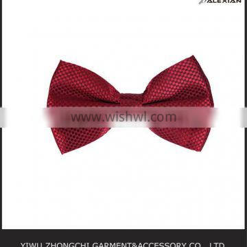 wine red bow tie