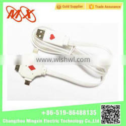 3 in 1 USB data cable wire for iphone/samsung chargering cable