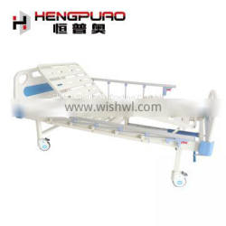 medical equipment hand adjustable patient care manual crank bed with rail