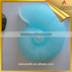 blue colored seashell candle paraffin wax craft candle for spa