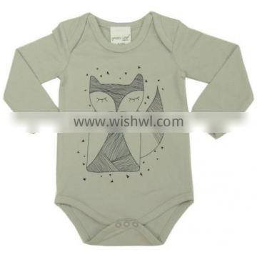 Organic Newborn baby body suits with lovely chest printed and 100% Organic cotton soft with Long sleeve baby body suits