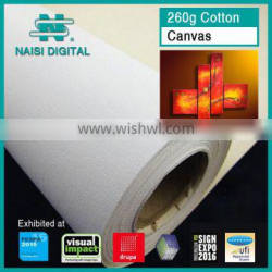 260gsm pure cotton canvas fabric for eco solvent ink