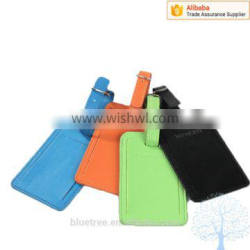 travel luggage tag in PU material ,different color