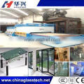 CE&CCC double row fan customized flat tempered glass stove