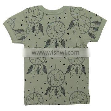 Organic cotton Top fashion quality kids t shirt and Short Sleeve plain with printed t shirt for babies