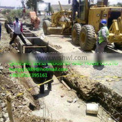 inflated form for constructing culvert onsite, inflated air bag, inflated form, inflated formwork, rubber air bag