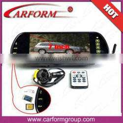 car rear view system TFT LCD 7 inch usb monitor with SD interface Support bluetooth MP5 Game player
